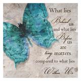 Blauwe vlinder I Print van Taylor Greene