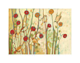 Five Little Birds Playing Amongst the Poppies Giclee Print by Jennifer Lommers