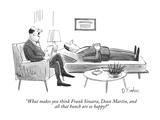 """""""What makes you think Frank Sinatra, Dean Martin, and all that bunch are s…"""" - New Yorker Cartoon Premium Giclee Print by Dana Fradon"""