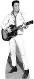 Elvis B&W White Jacket Music Lifesize Standup Cardboard Cutouts