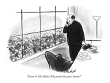 """Damn it, Miss Blake! Who pushed the panic button"" - New Yorker Cartoon Premium Giclee Print by Stan Hunt"