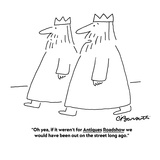 """""""Oh yea, if it weren't for Antiques Roadshow we would have been out on the…"""" - Cartoon Reproduction procédé giclée par Charles Barsotti"""
