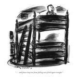 """. . . and please keep me from falling out of bed again tonight."" - New Yorker Cartoon Reproduction giclée Premium par Jr., Whitney Darrow"