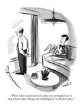 """What I don't understand is what ever prompted you to buy a book called 'B…"" - New Yorker Cartoon Premium Giclee Print by Stan Hunt"