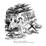 """Well, now summer's really here. There goes old Mr. Tarlton in his white b…"" - New Yorker Cartoon Reproduction giclée Premium par Jr., Whitney Darrow"