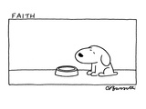 Faith - Cartoon Reproduction giclée Premium par Charles Barsotti