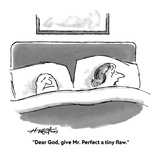"""""""Dear God, give Mr. Perfect a tiny flaw."""" - Cartoon Premium Giclee Print by Henry Martin"""