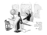 """Mr. Calkins takes you on to here, Madam, and then we put you in Mr. Samso…"" - New Yorker Cartoon Premium Giclee Print by Helen E. Hokinson"