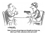 """""""After 34 years of marriage you thought you knew me, didn't you Well, wel…"""" - Cartoon Giclee Print by Henry Martin"""