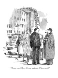 """""""Excuse me, Officer. I'm an academic. Where am I"""" - New Yorker Cartoon Premium Giclee Print by Robert Weber"""