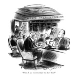 """What do you recommend for the short haul"" - New Yorker Cartoon Reproduction giclée Premium par Jr., Whitney Darrow"