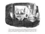 """From the left: Jeremiah Brisco III, Anthony Cortland of Sutherland Haven,…"" - New Yorker Cartoon Premium Giclee Print by Stan Hunt"