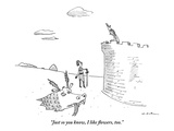 """Just so you know, I like flowers, too."" - New Yorker Cartoon Premium Giclee Print by Michael Maslin"