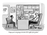 """I hope you're not going to let this I.P.O. affect your grades."" - New Yorker Cartoon Premium Giclee Print by Kaamran Hafeez"