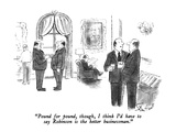 """Pound for pound, though, I think I'd have to say Robinson is the better b…"" - New Yorker Cartoon Premium Giclee Print by Stan Hunt"