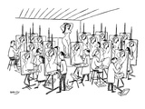 Art class painting nude woman. Each student paints exact same abstract int… - New Yorker Cartoon Premium Giclee Print by Anatol Kovarsky
