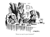 """""""Excuse me, may I see your invitation"""" - New Yorker Cartoon Premium Giclee Print by Henry Martin"""