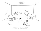 """Did you pay the gravity bill"" - New Yorker Cartoon Premium Giclee Print by Peter Mueller"