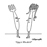 """I love it. Who did it"" - New Yorker Cartoon Premium Giclee Print by Charles Barsotti"
