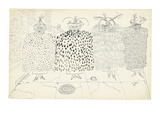 Four women dressed in different fur coats. - New Yorker Cartoon Premium Giclee Print by Saul Steinberg