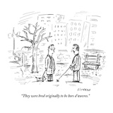 """They were bred originally to be hors d'œuvres."" - New Yorker Cartoon Premium Giclee Print by David Sipress"