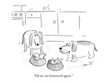 """Oh no, not homework again."" - New Yorker Cartoon Premium Giclee Print by Arnie Levin"