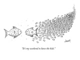 """""""It's my weekend to have the kids."""" - New Yorker Cartoon Premium Giclee Print by Tom Cheney"""