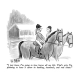 """""""I just know I'm going to love horses all my life.  That's why I'm plannin…"""" - New Yorker Cartoon Premium Giclee Print by Warren Miller"""