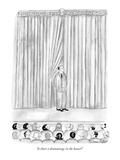 """Is there a dramaturge in the house"" - New Yorker Cartoon Premium Giclee-trykk av Victoria Roberts"