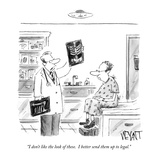 """""""I don't like the look of these.  I better send them up to legal."""" - New Yorker Cartoon Reproduction giclée Premium par Christopher Weyant"""