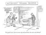 "Retirement Training Program'-""Very good, Larry!  Just one more step and yo…"" - New Yorker Cartoon Reproduction giclée Premium par Kim Warp"