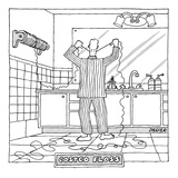 Costco Floss - New Yorker Cartoon Premium Giclee Print by Jack Ziegler