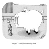 """""""Hungry"""" """"I could force something down."""" - New Yorker Cartoon Reproduction giclée Premium par J.C. Duffy"""