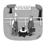 The Farmer, the Log, and the Log's attorney - New Yorker Cartoon Reproduction giclée Premium par J.C. Duffy