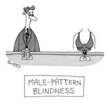 """""""Male-Pattern Blindness"""" - New Yorker Cartoon Reproduction giclée Premium par J.C. Duffy"""