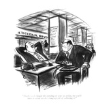 """Maybe we do bungle the spending of your tax dollar, but you'll have to ad…"" - New Yorker Cartoon Reproduction giclée Premium par Jr., Whitney Darrow"