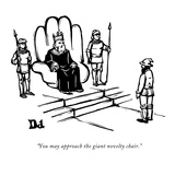 """You may approach the giant novelty chair."" - New Yorker Cartoon Reproduction giclée Premium par Drew Dernavich"