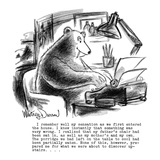 I remember well my sensation as we first entered the house. I knew instant… - New Yorker Cartoon Reproduction giclée Premium par Jr., Whitney Darrow