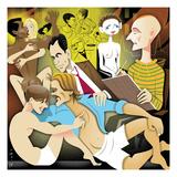 Illustration of people engaging in sexual activities. - New Yorker Cartoon Premium Giclee Print by Robert Risko