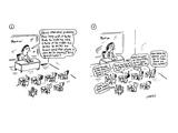 teacher asks her class a verbal math problem; in response, kids in class a… - Cartoon Premium Giclee Print by David Sipress