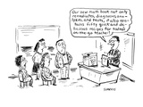 Our new math book not only remediates, diagnoses, analyzes, and tests, it … - Cartoon Premium Giclee Print by David Sipress