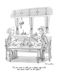 """""""If you want to talk, get a paper, and we'll talk about what's in the pape…"""" - New Yorker Cartoon Reproduction giclée Premium par Boris Drucker"""