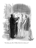 """In theory, yes, Mrs. Wilkins. But also in theory, no."" - New Yorker Cartoon Premium Giclee Print by Stan Hunt"