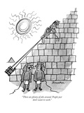 """""""There are plenty of jobs around. People just don't want to work."""" - New Yorker Cartoon Reproduction giclée Premium par Boris Drucker"""