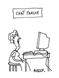 Chat Parlor - Cartoon Giclee Print by Peter Mueller