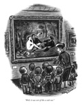 """""""Well, it was sort of like a cook-out."""" - New Yorker Cartoon Reproduction giclée Premium par Jr., Whitney Darrow"""