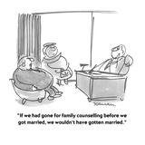 """""""If we had gone for family counseling before we got married, we wouldn't h…"""" - Cartoon Reproduction procédé giclée par Boris Drucker"""