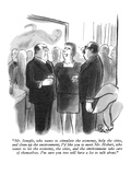 """Mr. Semple, who wants to stimulate the economy, help the cities, and clea…"" - New Yorker Cartoon Premium Giclee Print by Stan Hunt"