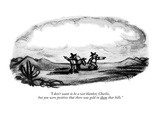 """I don't want to be a wet blanket, Charlie, but you were positive that the…"" - New Yorker Cartoon Premium Giclee Print by Robert Kraus"