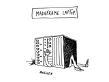 Mainframe Laptop - Cartoon Giclee Print by Peter Mueller